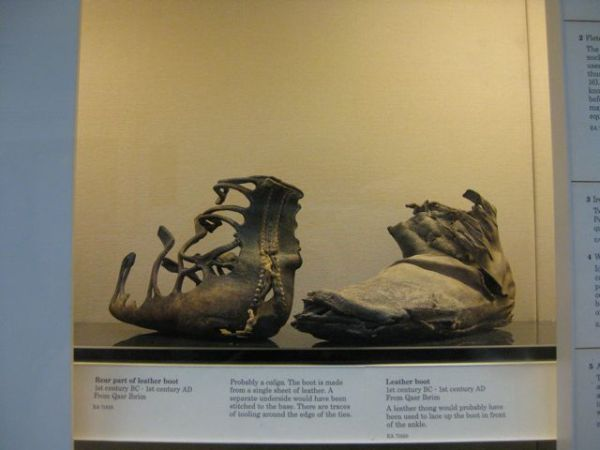 2000-year-old leather boots